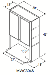 """MICROWAVE CABINET (30""""W x 48""""H x 12""""D)"""