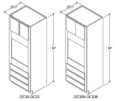 """OVEN CABINET (30""""W x 84""""H x 23.75""""D)"""