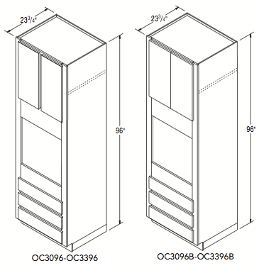 """OVEN CABINET (30""""W x 96""""H x 23.75""""D)"""