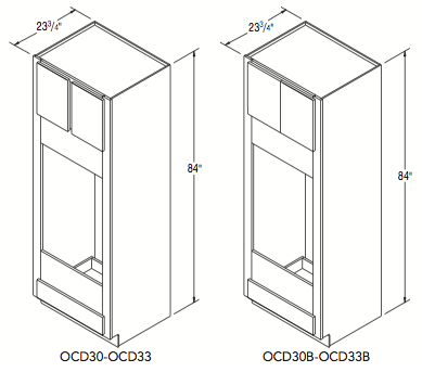 """DOUBLE OVEN CABINET (30""""W x 84""""H x 23.75""""D)"""