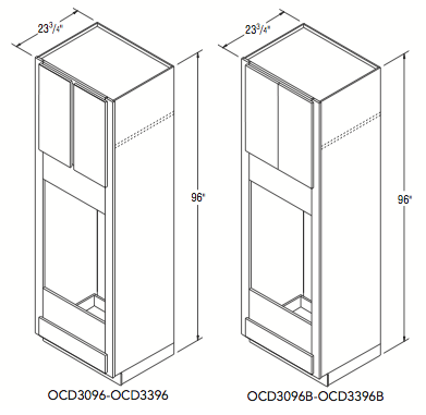 """DOUBLE OVEN CABINET (30""""W x 96""""H x 23.75""""D)"""