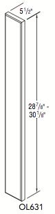 "BASE OVERLAY (5.5""W x 28.875""H x 0""D)"