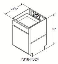 "PENINSULA BASE (18""W x 35""H x 23.75""D)"