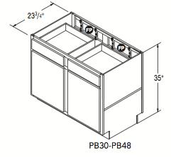 "PENINSULA BASE (30""W x 35""H x 23.75""D)"