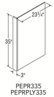"Plywood 3/8-inch End Panel with 3-inch Stile (3"" x 23-3?4"" x 35"")"