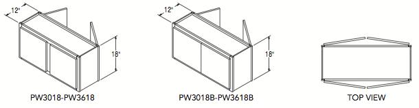 """PENINSULA WALL (30""""W x 18""""H x 12""""D)"""