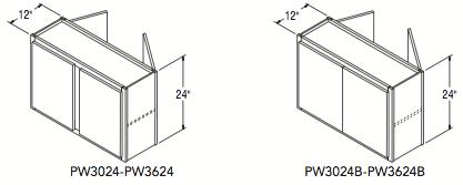 """PENINSULA WALL (30""""W x 24""""H x 12""""D)"""