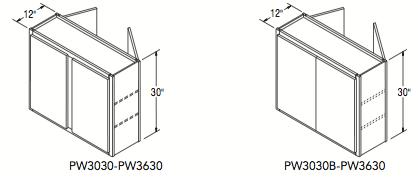 """PENINSULA WALL (30""""W x 30""""H x 12""""D)"""