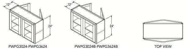 "PENINSULA WALL PREP/GLASS (30""W x 24""H x 12""D)"