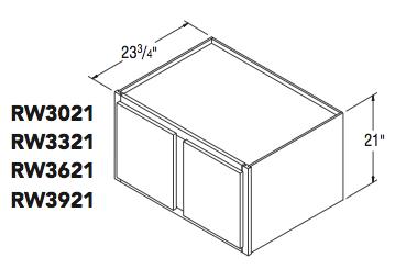 """REFRIGERATOR WALL (30""""W x 21""""H x 23.75""""D)"""