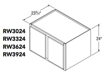 """REFRIGERATOR WALL (30""""W x 24""""H x 23.75""""D)"""