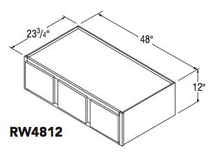 """REFRIGERATOR WALL CABINET (48""""W x 12""""H x 23.75""""D)"""