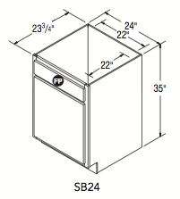 """SINK BASE (24""""W x 35""""H x 23.75""""D)"""