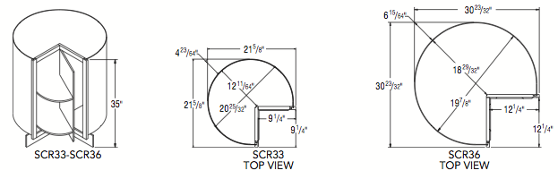 "SQUARE CORNER ROTO (33""W x 35""H x 23.75""D)"