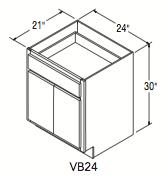 "VANITY BASE (24""W x 30""H x 21""D)"