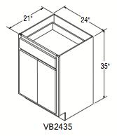 "VANITY BASE (24""W x 35""H x 21""D)"