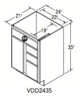 """VANITY DOOR AND DRAWER (24""""W x 35""""H x 21""""D)"""