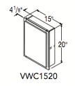 "VANITY WALL CABINET (15""W x 20""H x 4.625""D)"