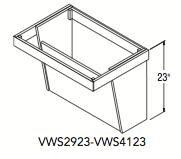 """VANITY WALL SINK (28.6875""""W x 23""""H x 20.1875""""D)"""