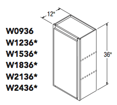 "WALL CABINET (9""W x 36""H x 12""D)"