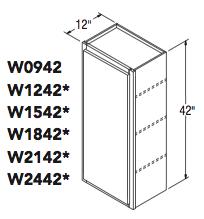 "WALL CABINET (9""W x 42""H x 12""D)"