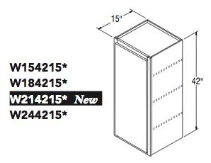 "WALL CABINET (15""W x 42""H x 15""D)"