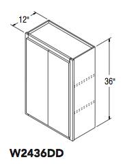 """WALL CABINET DOUBLE DOOR (24""""W x 36""""H x 12""""D)"""