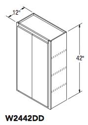 """WALL CABINET DOUBLE DOOR (24""""W x 42""""H x 12""""D)"""