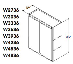 "WALL CABINET (27""W x 36""H x 12""D)"