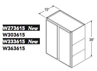 "WALL CABINET (27""W x 36""H x 15""D)"
