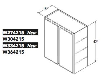 "WALL CABINET (27""W x 42""H x 15""D)"