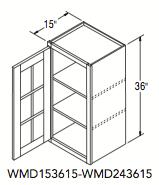 """WALL CABT W/MULL DOOR (15""""W x 36""""H x 15""""D)"""