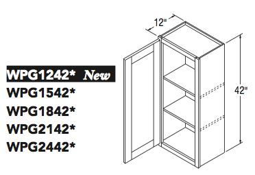 """WALL CABT PREP/GLASS (12""""W x 42""""H x 12""""D)"""