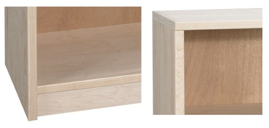 "AWB Frameless Nola Bookcase with Center Divider (-V) 48""W x 60""H"