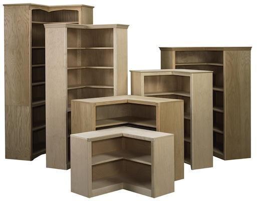 "AWB Corner Bookcase (-BK6) 36"" along the wall x 84""H x 16""D"