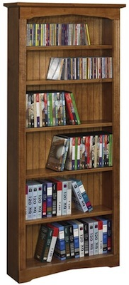 "AWB Multimedia Bookcase (-EN5) 36""W x 60""H x 6.5""D"