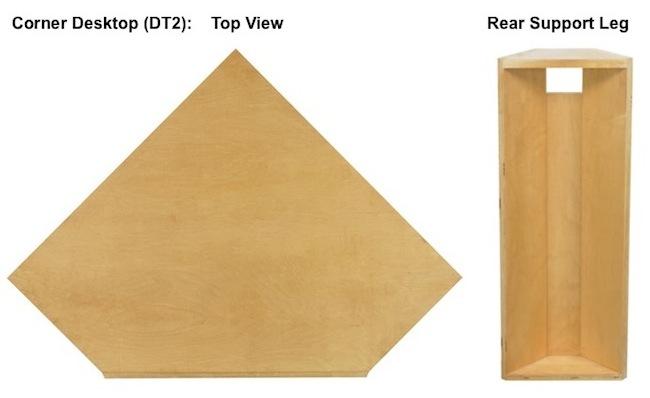 "AWB Corner Desk Top (-DT2) 36""W"