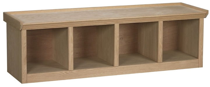 Maple And Oak Custom Unfinished Or Finished Awb Cubby Bench Cub1 60 W X 18 H X 16 D