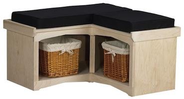 "AWB Corner Cubby Bench (-CUB2) 36""W x 18""H x 16""D"