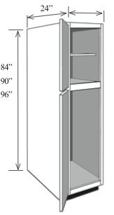 """BBC1890: Kitchen Base Utility Cabinet, 18""""w x 90""""h x 24""""d"""