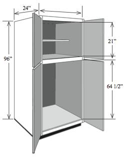 BBC2496: Kitchen Base Utility Cabinet, ...