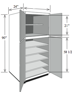 Bbca3696 Kitchen Base Utility Cabinet With Shelves