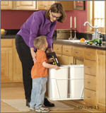 Trash Bin, Double 27-Quart Pull-Out with Full-Extension Slides (White)