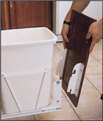 Door Mounting Kit for RV-Series Trash Pullouts (White)