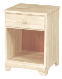 Classic Bedroom, One Drawer Nightstand