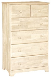 Classic Bedroom, Six Drawer Chest