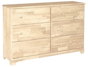 Classic Bedroom, Six Drawer Dresser