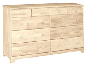 Classic Bedroom, Ten Drawer Dresser