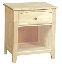 Summerville Bedroom, One Drawer Nightstand