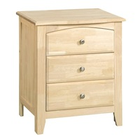 Summerville Bedroom, Three Drawer Nightstand